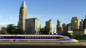 Artist rendering of a possible high-speed rail future.