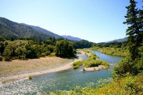 The Trinity River near Hoopa.