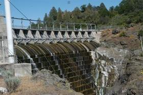 Copco 1 Dam on the Klamath River.