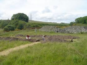 Archaeological dig in the United Kingdom.