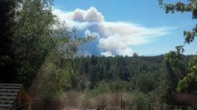 The Clover Fire burns near Igo in summer of 2013.