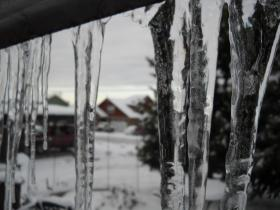 Icicle weather in the Rogue Valley