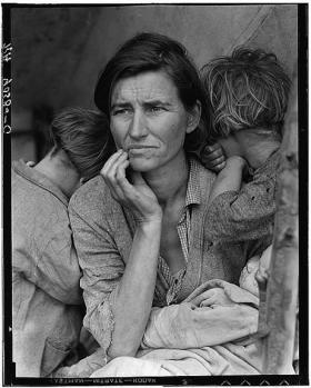 "Dorothea Lange's ""Migrant Mother."""