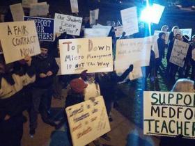 A pre-strike rally.