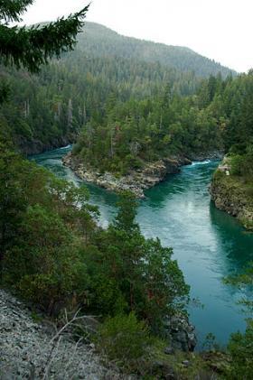 The Smith River, near Crescent City, California