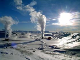 A geothermal power station in Iceland.