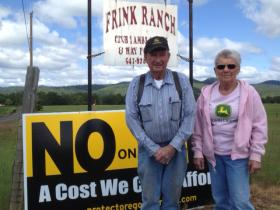Jim and Marilyn Frink farm 500 acres in the Sams Valley area in Jackson County.
