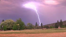 Lightning strikes near Ashland, July 30.