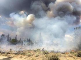 The Moccasin Hill near Sprague River fire has burned 2,500 acres and six homes.