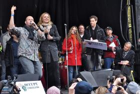 Storm Large at Occupy Portland.