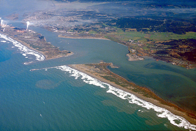 Humboldt Bay and Eureka.