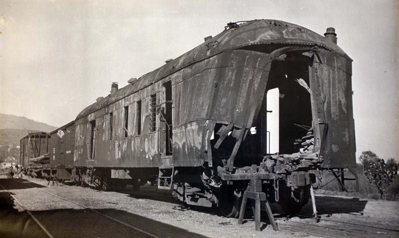 Evidence of the magnitude of the explosion set by Ray and Hugh DeAutremont in their efforts to gain access to the mail coach; the $40,000 they were after was incinerated.