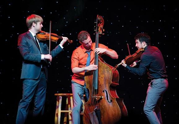 String Trio Time For Three joins the Britt Orchestra for this year's Pops Concert on August 16th