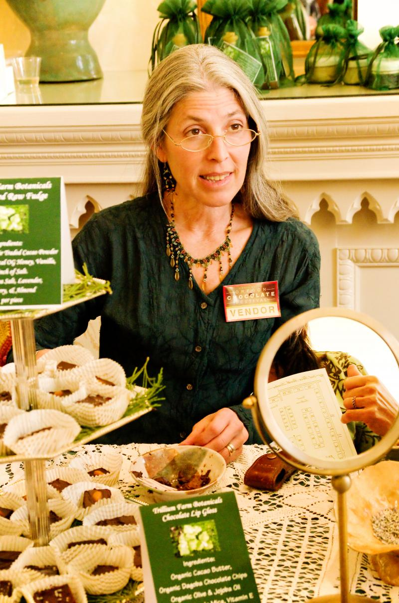 Susannah Bahaar creates chocolate-themed lotions and creams out of her Applegate Valley, Ore. home.