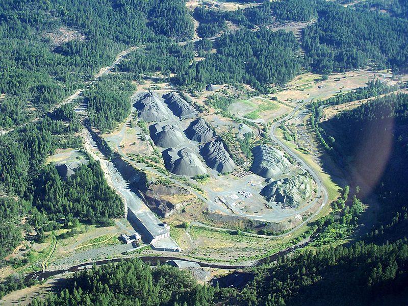 Elk Creek Dam, after its notching.