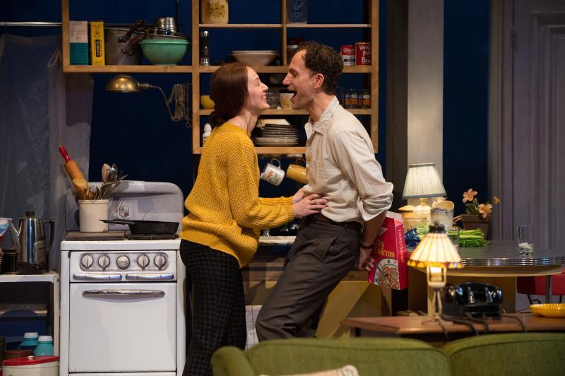 Iris Parodus Brustein (Sofia Jean Gomez) spars with her husband, Sidney (Ron Menzel).