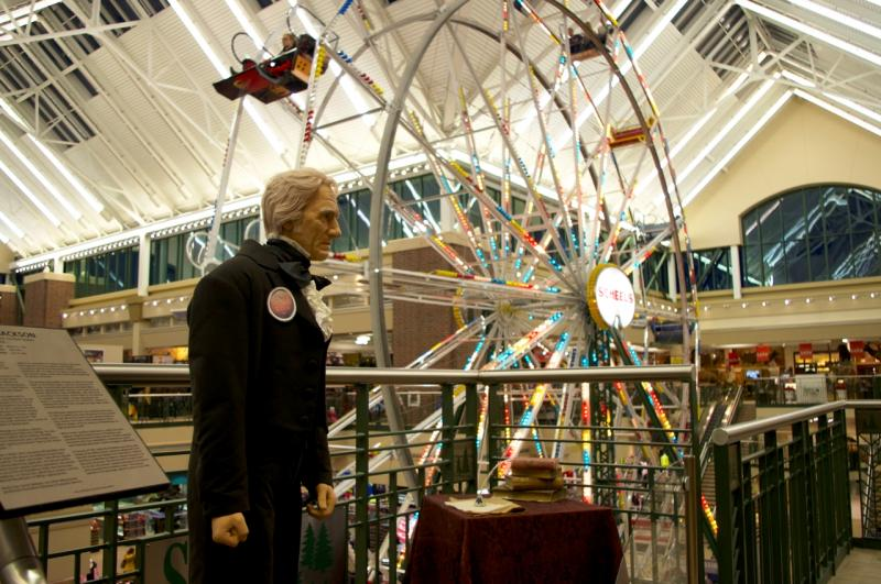 Scheels is a sporting goods store in Sparks, Nevada, less than 10 minutes from downtown Reno. An indoor ferris wheel, aquarium, and wax museum of former presidents (recognize Andrew Jackson?) make Scheels a popular tourist & even school-group destination.