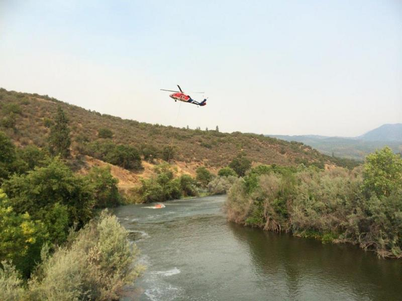 Beaver Fire: Type 1 Heavy Helicopter in Klamath River