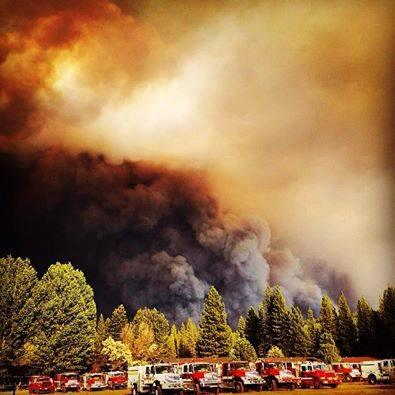 Redding firefighter Erick Mattson took this shot from Burney High School, which houses the firefighting base camp.
