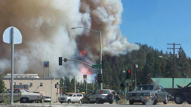 The Boles Fire, burning Monday in the city of Weed