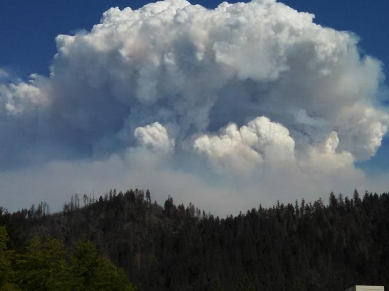 The Happy Camp Complex Fire Plume