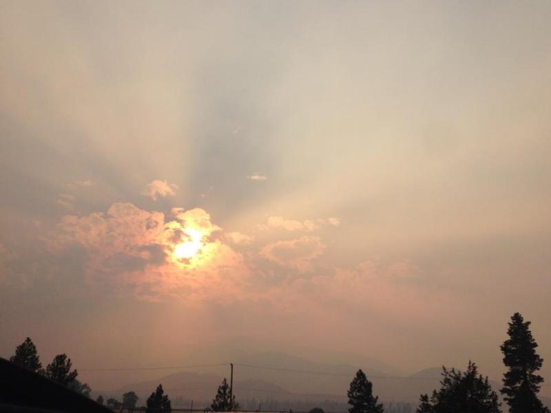Smoke from the Happy Camp Fire as seen from Weed