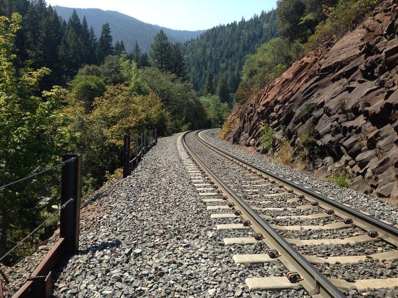 "Train Tracks on the ""Trail"" to Mossbrae Falls"