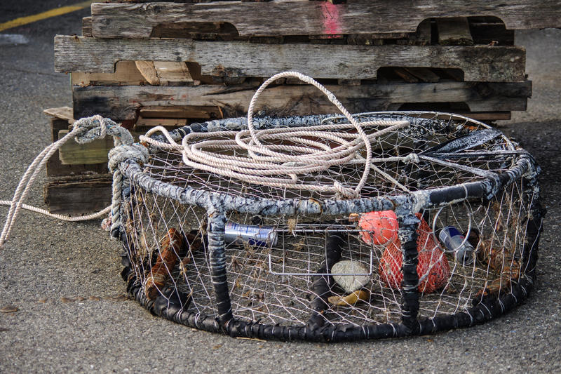 A crab trap at Port Orford.
