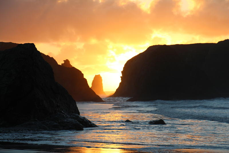 Sunset at Coquille Point, Bandon.