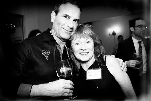 JPR's Colleen Pyke with volunteer extraordinaire Jeff Jones.