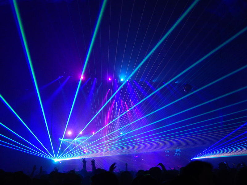 Lasers.  Yes, we can see them, but we need an illustration.