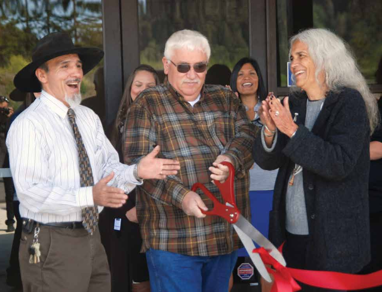 The opening of the Yurok Justice Center.