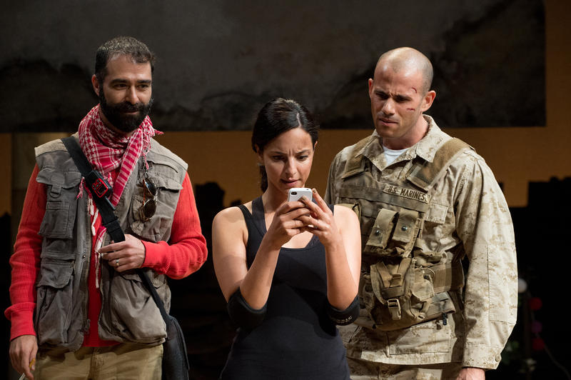 Ali (Barzin Akhavan), Elliot (Daniel Duque-Estrada) and Shar (Tala Ashe) try to decide on a travel destination.