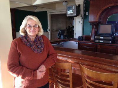 Debbie Gibney, 58, is a client and staff member at the Mendocino Coast Hospitality Center. She says she has bipolar disorder and post-traumatic stress disorder.