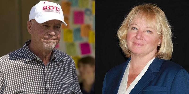 The race between Republican Alan DeBoer (L) and Democrat Tonia Moro (R) for Oregon's 3rd District Senate seat is too close to call on Election Night.