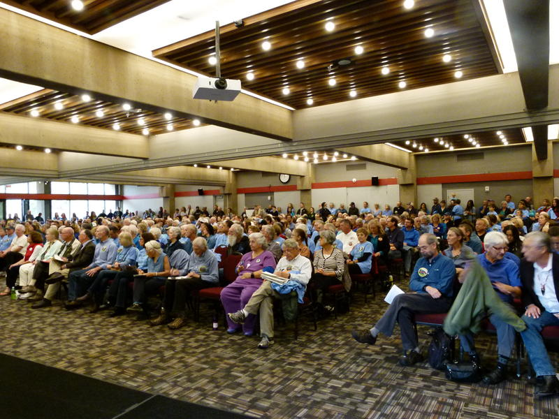 It was standing room only in the Rogue River Room at Southern Oregon University during Friday afternoon's public meeting.