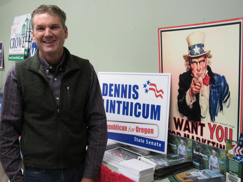 Dennis Linthicum is the Republican candidate for Oregon's 28th Senate District seat.