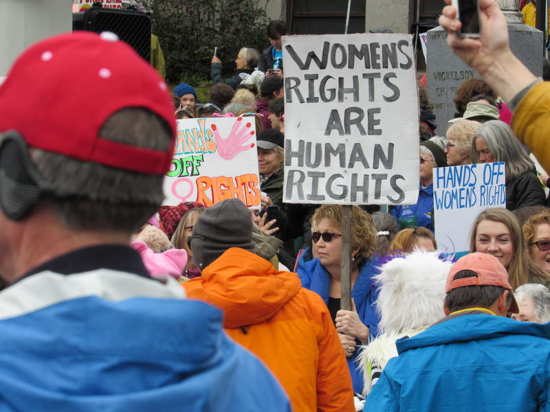 Marchers at the Southern Oregon Women's March in Ashland, Oregon, on Jan. 21, 2017.