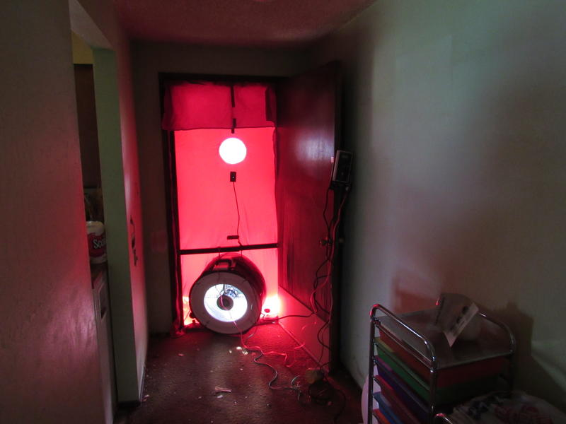 """The """"blower door"""" set up Dan Cunningham uses to reveal hidden air leaks in a house."""