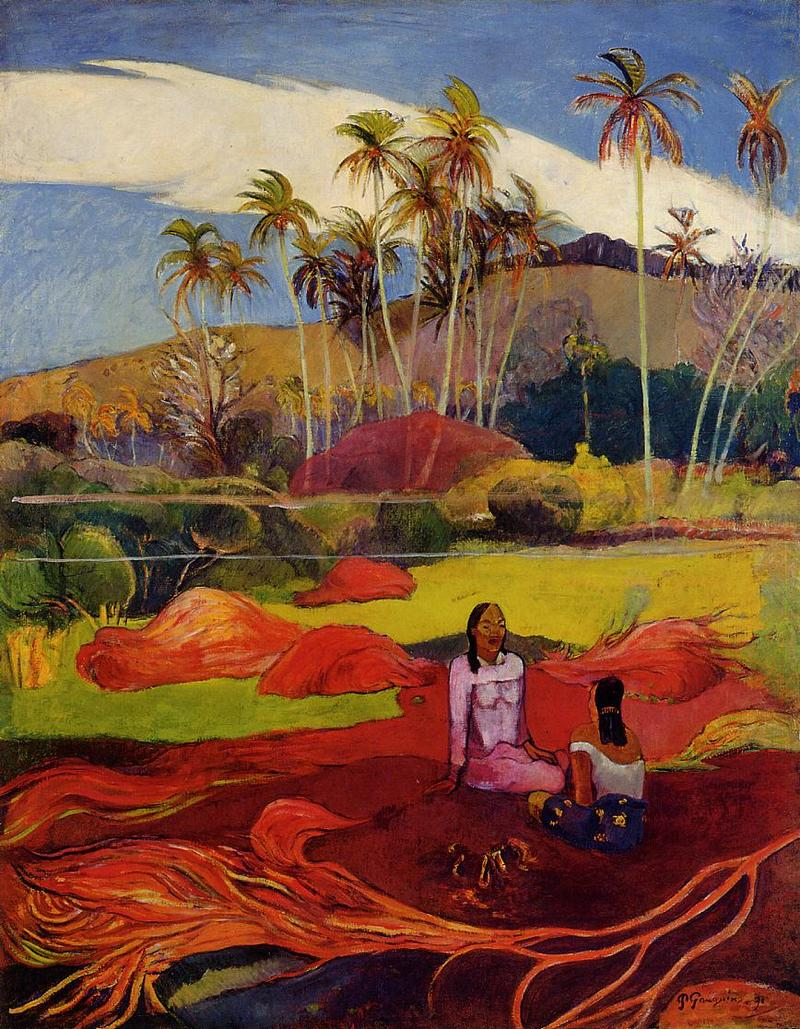 Paul Gauguin's Tahitian Women Under the Palms