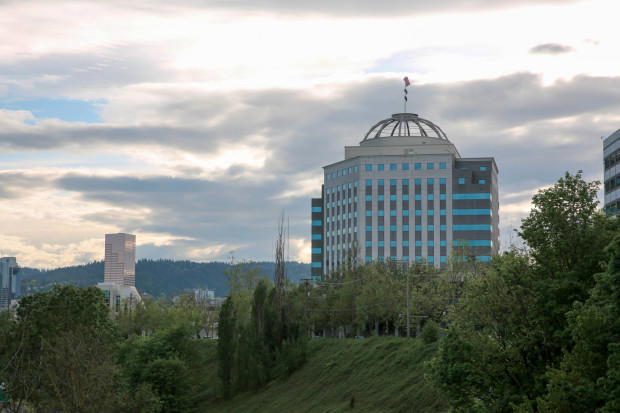 The Oregon State Office Building in Portland, located in the Lloyd District, houses the state agency that handles chronic disease. The building overlooks the Pearl District, one of the healthiest parts of the state.