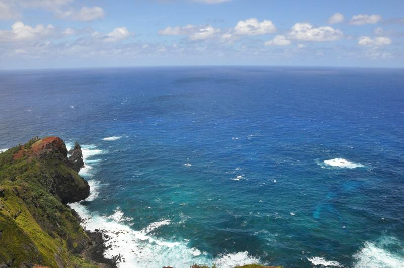View from the heights of Pitcairn island.
