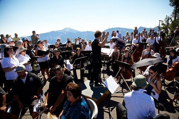 """Britt Orchestra Premieres Michael Gordon's """"Natural History"""" at Crater Lake"""