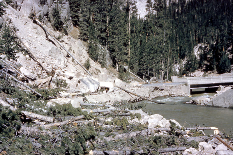 A landslide from the Yellowstone earthquake of 1959.