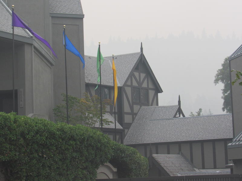 The Oregon Shakespeare Festival in Ashland, OR, shrouded in smoke on Wednesday evening, Sept. 5.