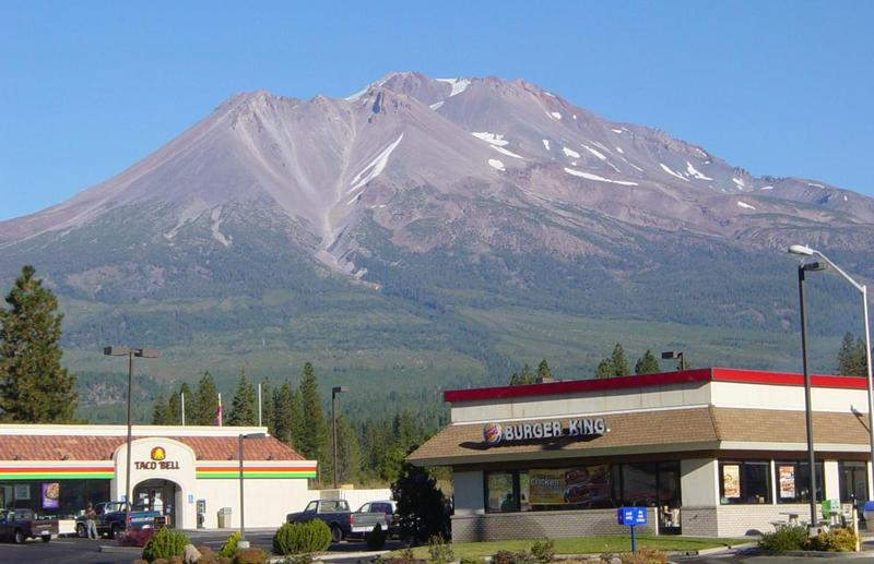 South Weed with Mount Shasta in the background.