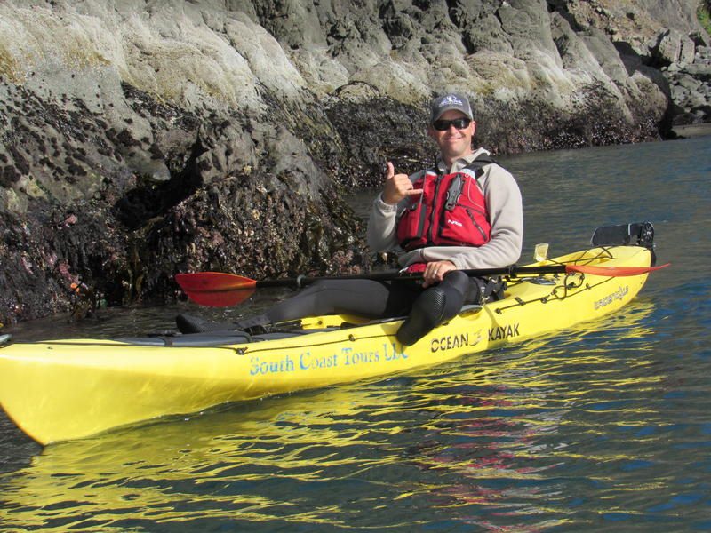 Dave Lacey, owner of South Coast Tours, along the intertidal zone near Port Orford Heads State Park.