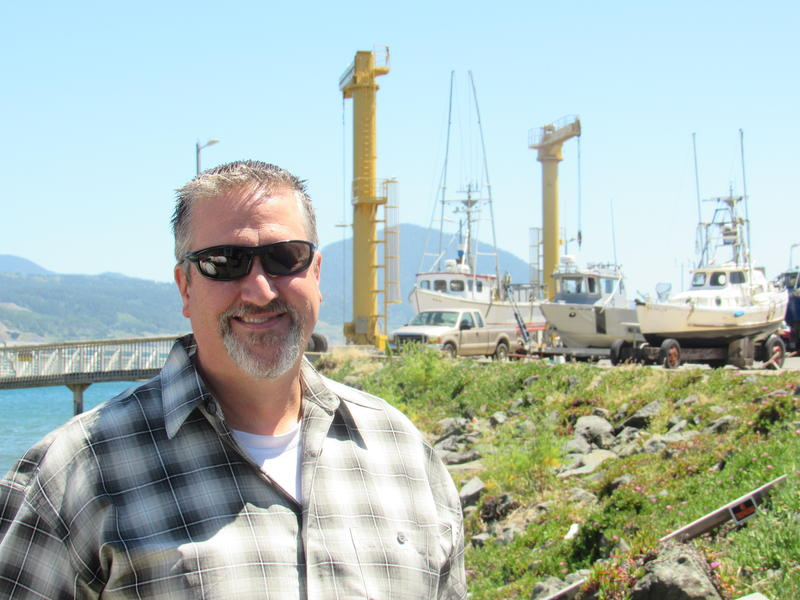 Steve Courtier is manager at the Port of Port Orford. Building a new facility to replace the crumbling cannery building at the port is the biggest challenge on his plate.
