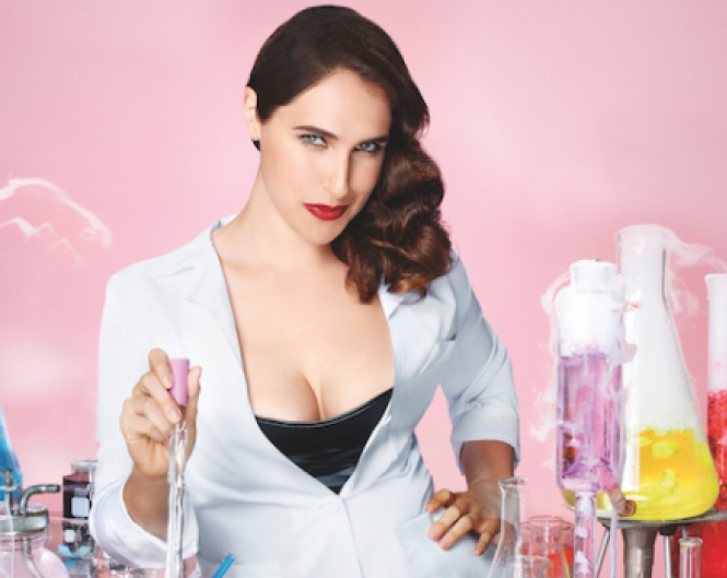 Megan Amram in scientist mode.