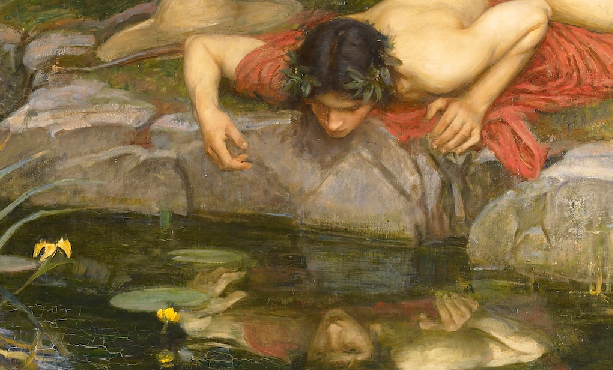 Narcissus, from Greek mythology, by J.W. Waterhouse